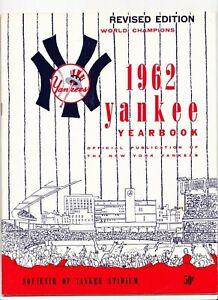 1962 New York Yankees Yearbook  Mantle  Maris  6/20/1962 Roster Date