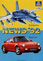 Italeri Prospekt News 1992 Modellautos Modellflugzeuge Panzer Figuren brochure