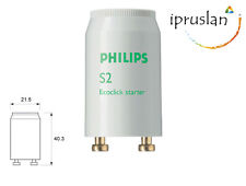 10x=> Philips Fluorescent Tube S2 Ecoclick Starter 4–22W, 110–130 / 220–240V