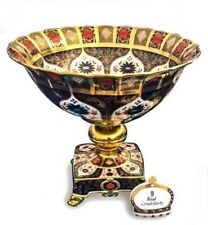 New Royal Crown Derby 1st Quality Old Imari Solid Gold Band Prestige Punch Bowl