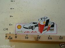 STICKER,DECAL SHELL SUPER PLUS 20W/50 MOTOR OIL JAGUAR ? CAR