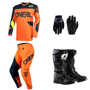Oneal Matrix 2019 adulto MX ATV Quad Dirt bike Enduro motocross Gear indumenti protettivi off Road Race Suit Red