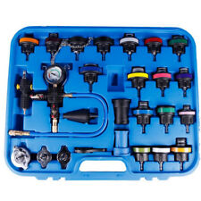 27Pc Automotive Cooling System Tester, Radiator Cap Pressure Testing Tool, tools