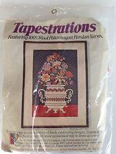 Vintage Tapestrations Paternayan Yarn Longstitch Needlepoint Kit-Floral Vase