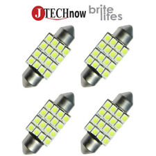 "4x 36mm(1.50"") 16 SMD White LED Bulb 6411 6413 6418 C5W"