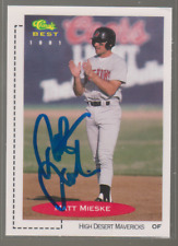 Autographed 1991 Classic Best Matt Mieske - High Desert Mavericks