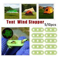 5Pcs/10Pcs Outdoor Tent Wind Rope Buckle Camping Luminous 3 Holes Buckle Plastic