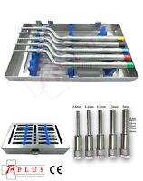 Bone Spreading Osteotomes Dental Implant Instruments Offset-concave tips Set CE