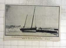 1909 Scottish Fishing Boat Daisy Bell Driven Ashore On North Beach Lowestoft