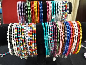 Made to order Miracle Bead Stretch Anklet - Choice of colors - Glow xmas gift