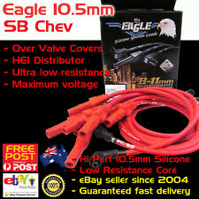 EAGLE Red 10.5mm Ignition Spark Plug Leads SB Chev 327 350 HEI Over Covers