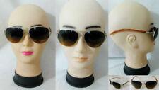 Gafas de sol de mujer aviadores de oro
