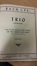 CPE Bach: Trio Sonata For Flute, Violin And Piano: Music Score (P1)