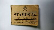 More details for 1944 gpo buff stiched stamp booklet 5/- very rare great spacefiller