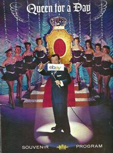 QUEEN FOR A DAY STARRING JACK BAILEY NBC TV SHOW 12/23/1958 SOUVENIR PROGRAM