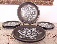1960s Mikasa Ravenna 3 Dinner Plates/7 Salad Plates Vintage RARE! #221