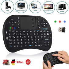Wireless Funktastatur Mini USB Tastatur Layout Touchpad Maus QWERTZ TV Box PS3
