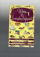 Collectible 1950s Wines for Everyday Enjoyment, Taylor Ny Wine Recipe Booklet