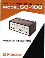 Bedienungsanleitung-Operating Instructions+Schema für Pioneer SC-100