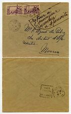 FRENCH POLYNESIA WW2 AFARAITU INCONNU MOOREA 1940 APRIL 4 RETURNED UNSEALED MAIL