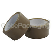 """6 ROLLS OF BROWN PACKING PARCEL TAPE 48mm x 66M (2"""")"""
