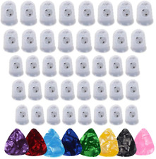Silicone Guitar Finger Guards,Guitar Picks, Fingertip Protection Covers Caps for
