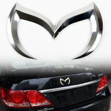 3D Metal Silver Batman Front Rear M Emblem Logo Badge Sticker Decal For Mazda