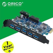 ORICO PVCU3-502I 19 Pin 5 Ports USB 3.0 Metal PCI Expansion Card High Quality