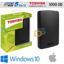HARD DISK ESTERNO 2,5 1TB USB 3.0 2.0 TOSHIBA 1000 GB AUTOALIMENTATO PER MAC OS
