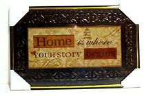 Home is Where Your Story Begins  Inspirational  Wall Picture,Wall Plaque( NEW)
