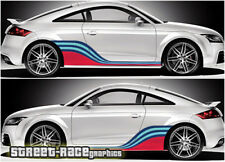 Audi Martini side racing stripes 007 vinyl graphics stickers A1 S1 TT A3 S3
