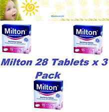 Milton 24 Hour Steriliser Tablet Protects for Germs 28 Pack x 3, Free Fast Del