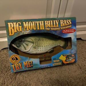 Vintage Big Mouth Billy Bass The Singing Sensation Sync motion in Box