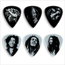 Bob Marley Collectible Guitar Picks in Tin - 6 picks -Silver Potrait Series HVY