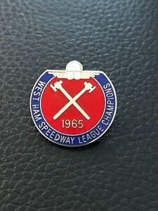 West Ham Speedway Badge 1984 - Silver - Rare