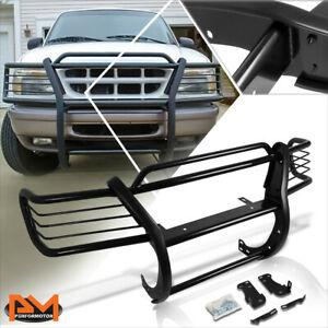 For 95-01 Explorer/Mountaineer Front Bumper Brush Grille Guard Protector Black