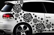 93 Rose Stelle Star Adesivi Auto Set Adesivo Rose Stylin ' Adesivo Murale Blumen