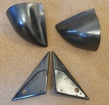 Black Manual DTM Style Mirrors & Base Plates fits BMW E34 5 Series 1988 - 1995