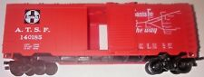 LIFE-LIKE 40' BOXCAR - SANTA FE ALL THE WAY - HO SCALE - CLEAN AND GOOD - NICE