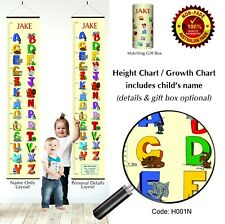 ABC Animal Alphabet Letters Height Growth Charts Wall Hanging for Childs Bedroom