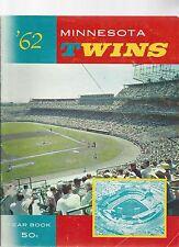Original 1962  Minnesota TwinsYearbook -   - Ex  condition