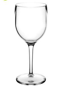 Unbreakable Reusable Polycarbonate Plastic Wine Glasses (220ml/ 7.7oz to rim)