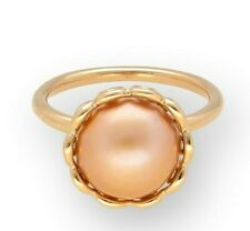 Genuine PANDORA 14Ct Yellow Gold Pearl Solitaire Ring (Size O)