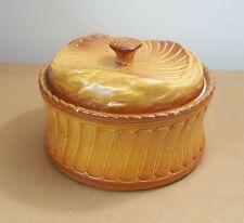 Grand pot à biscuit en céramique ancien forme gâteau