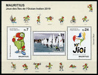 Mauritius 2019 MNH Indian Ocean Island Games 3v M/S Sailing Boats Sports Stamps