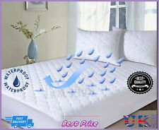 Top Quality Waterproof Quilted Mattress Protector Deep Fitted Non Allergic