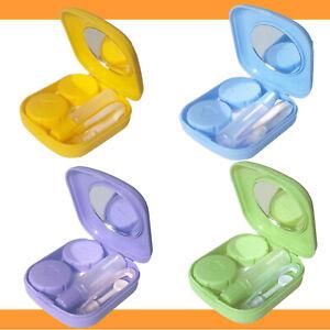 Kontaktlinsen Set Behälter Spiegel Pinzette Hilfe Reise Box Zubehör Einsetzhilfe