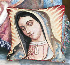 Our Lady of Guadalupe Tapestry Square Pillow