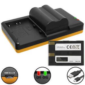 2 Akkus + Dual-Ladegerät NP-400 für Konica Minolta Dimage A1, A2, A7 Digital