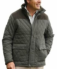 Mens Country Estate Quilted Jacket Lewis Diamond Quilted Fleece Lined